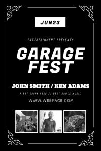 Vintage Garage gig fest flyer template