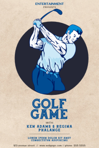 Vintage Golf Fame Flyer Template