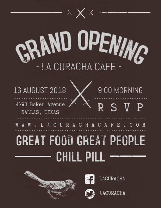 Vintage Grand Opening Flyer Template