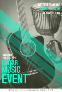vintage guitar concert event flyer