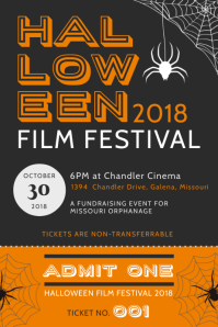 Vintage Halloween Film Festival Event Poster Template