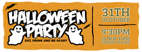 Vintage Halloween Party Facebook Cover Photo
