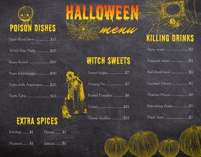 Vintage Halloween Restaurant Menu Design