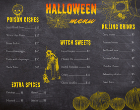 Vintage Halloween Restaurant Menu Design