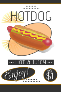 customizable design templates for hot dog postermywall