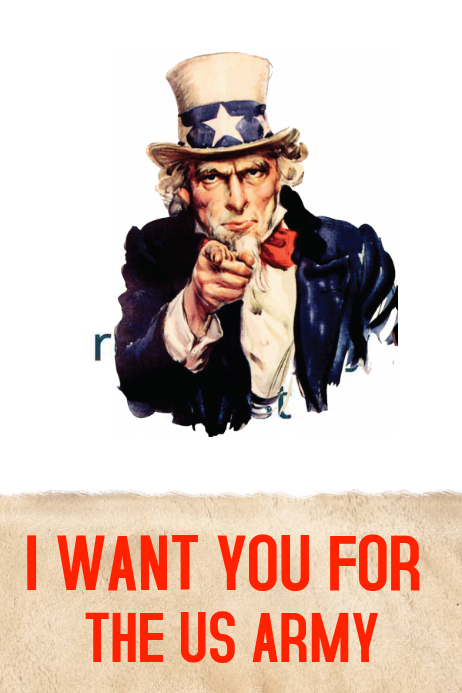 Vintage I Want You Poster Template