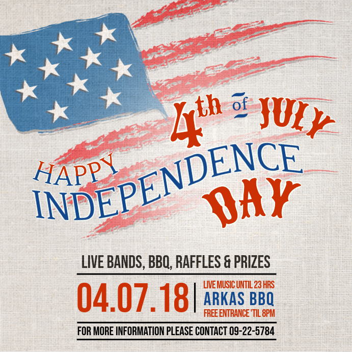 Vintage Independence Day Flyer Instagram Post Template