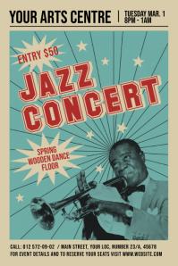 Vintage Jazz Concert Poster