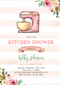 Vintage kitchen shower party invitation