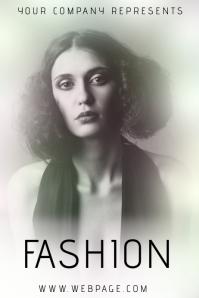vintage light dreamy fashion flyer template