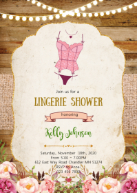 Vintage Lingerie shower party invitation
