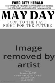 Vintage May Day Flyer Template
