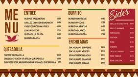 Vintage Mexican Cuisine Cinco de Mayo Menu Display Pantalla Digital (16:9) template