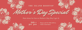 Vintage Mother's Day Restaurant Promo Banner