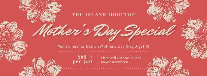 Vintage Mother's Day Restaurant Promo Banner