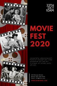 Vintage Movie Fest Flyer Design Template