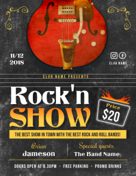 Vintage Music Show Flyer Template