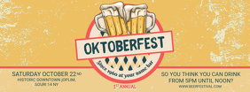 Vintage Oktoberfest Bar Event Facebook Cover Template Facebook-coverfoto
