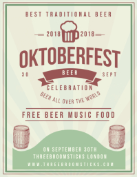 Vintage Oktoberfest Bar Flyer Template