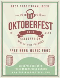 Vintage Oktoberfest Bar Flyer Template