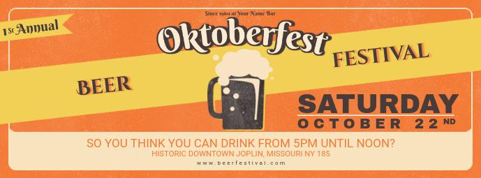 Vintage Oktoberfest Pub Event Facebook Cover Template