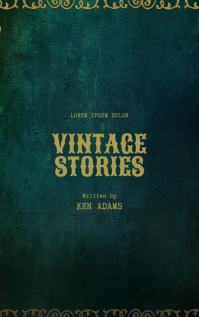 Vintage Old Book Cover Template Kindle/Book Covers