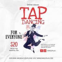 Vintage Online Tap Dance Class Instagram Post Instagram-bericht template
