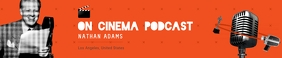 Vintage Orange Podcast Soundcloud Banner template
