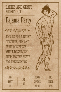 Vintage Pajama Party Poster