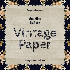 Vintage Paper CD Cover Template