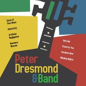 Vintage Pop Jazz Album Cover Rock Design template