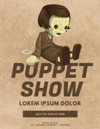 Vintage Puppet Toy Doll Show Flyer Template