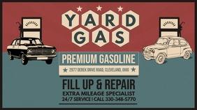 Vintage Red Gas Station Digital Ad