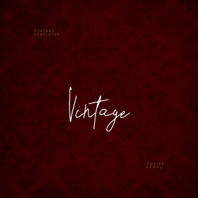 Vintage Red Texture CD Cover Art Template