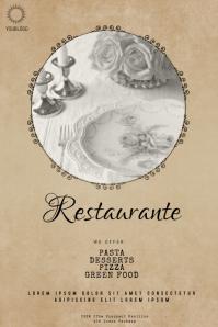 Vintage restaurant flyer template