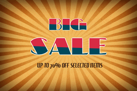 vintage retro big sale flyer template landscape