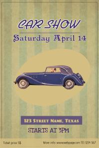 vintage retro car show poster template