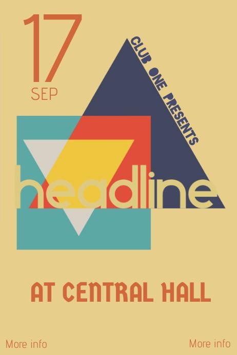 vintage retro concert event poster template