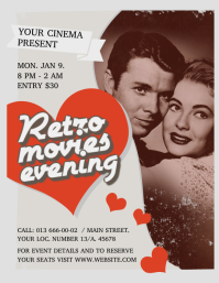 Vintage Retro Movie Flyer