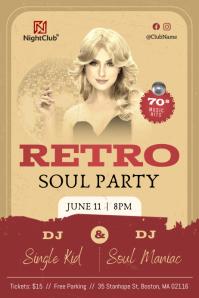 Vintage Retro Soul Party Poster Plakat template