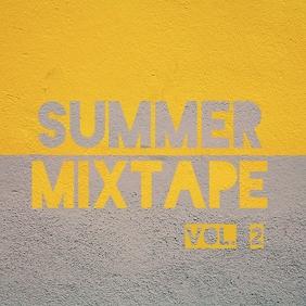 vintage retro summer mixtape album cover Pochette d'album template