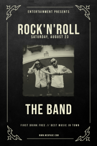 Vintage Rock'n'roll Flyer Poster Template Plakkaat