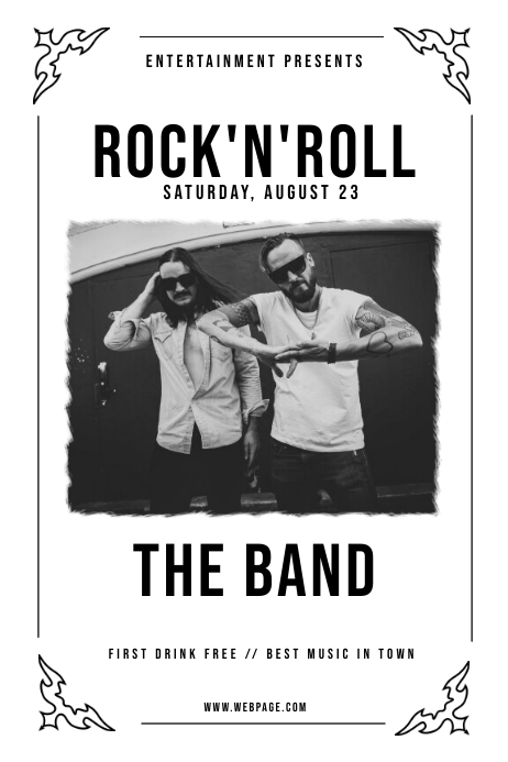 Vintage Rock'n'roll Flyer Template