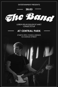 Vintage Rock Band Concert Flyer Design Poster template