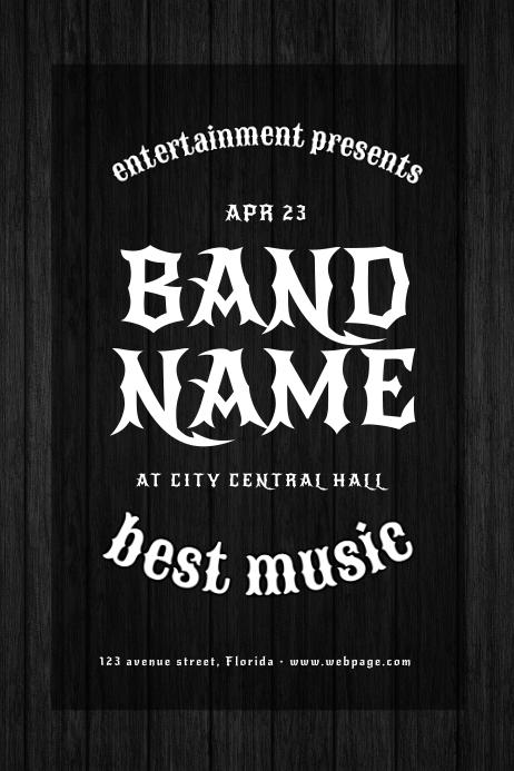 Vintage Rock Band Flyer Template Plakkaat
