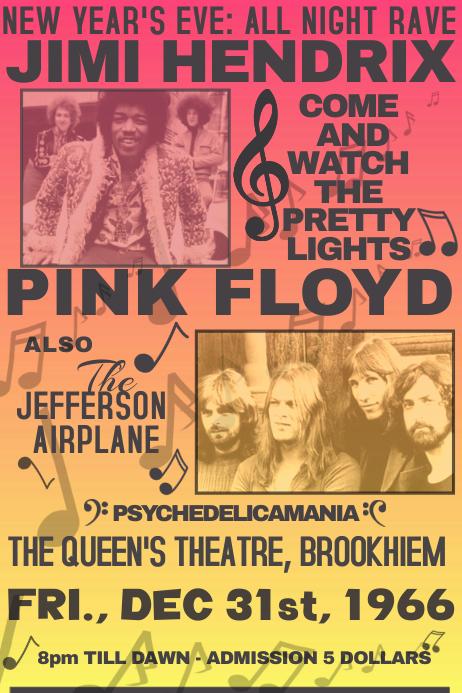 Image result for pink floyd vintage concert poster