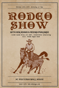 Vintage Rodeo Show Flyer Template