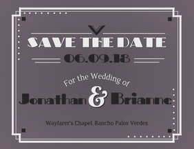 Vintage save the date