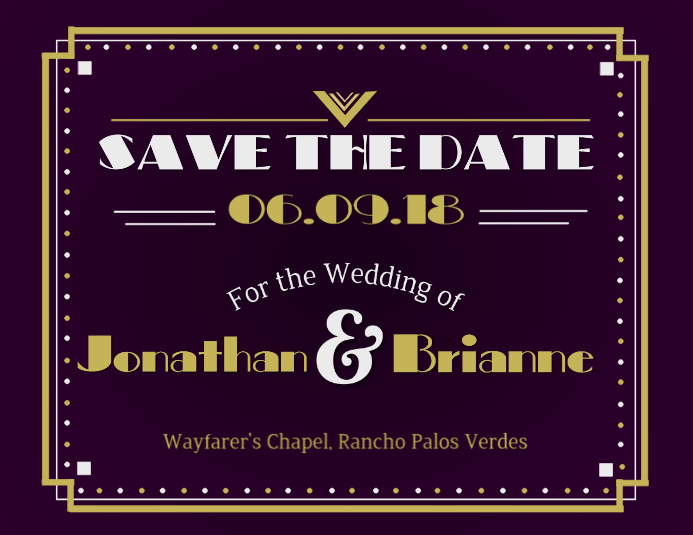 Vintage save the date Pamflet (Letter AS) template