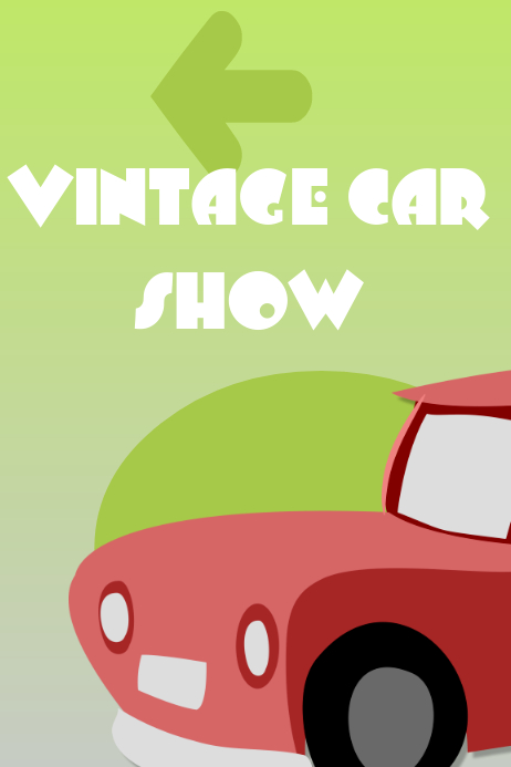 Vintage show poster template
